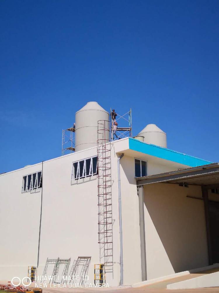 Tháp xử lý khí thải chuyền xi mạ công ty GOOD JOB
