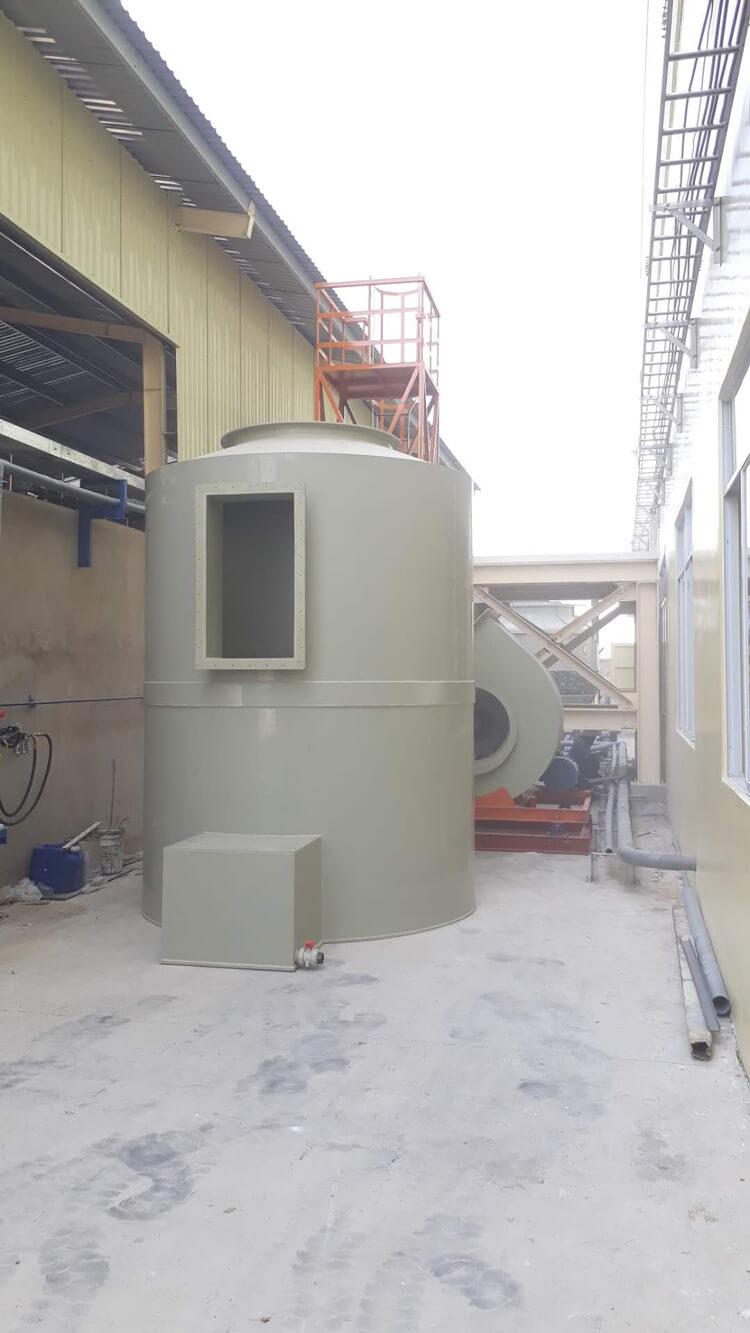 Tháp xử lý khí thải công ty ALEX GLOBAL Tây Ninh